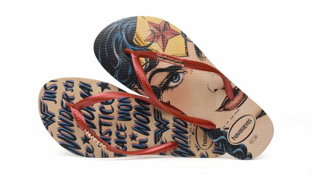 Dia da Mulher: Havaianas apresenta coleção inspirada na Wonder Woman