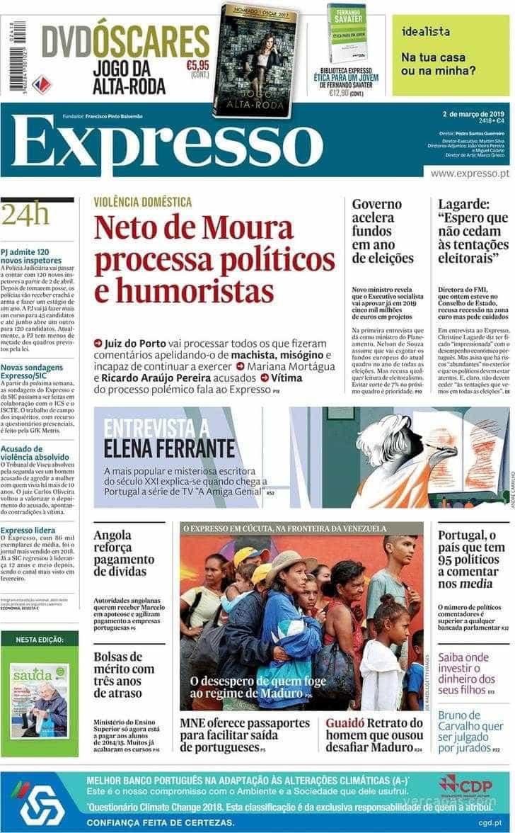 Hoje é notícia: Neto de Moura processa; ADSE em risco já em 2021