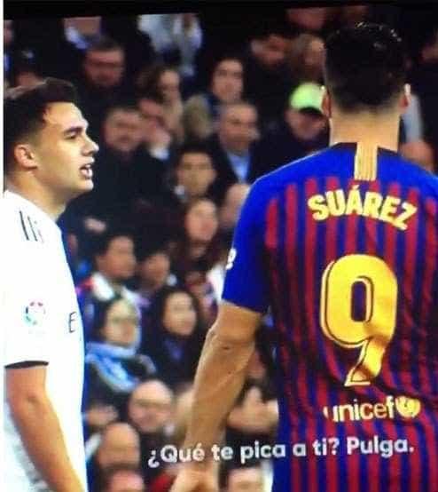 """Reguilón provocou Messi e Suárez: """"O que te mordeu, pulga?"""""""