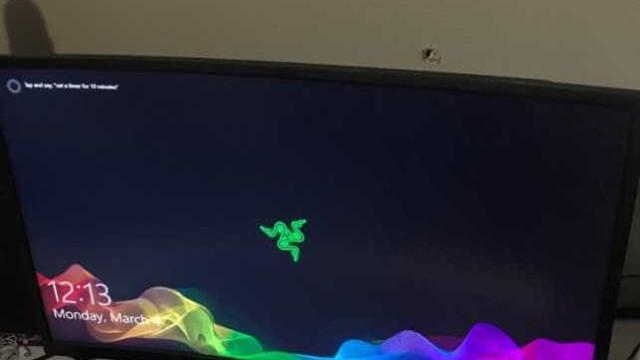 Monitor continua a funcionar depois de ser atingido por bala perdida