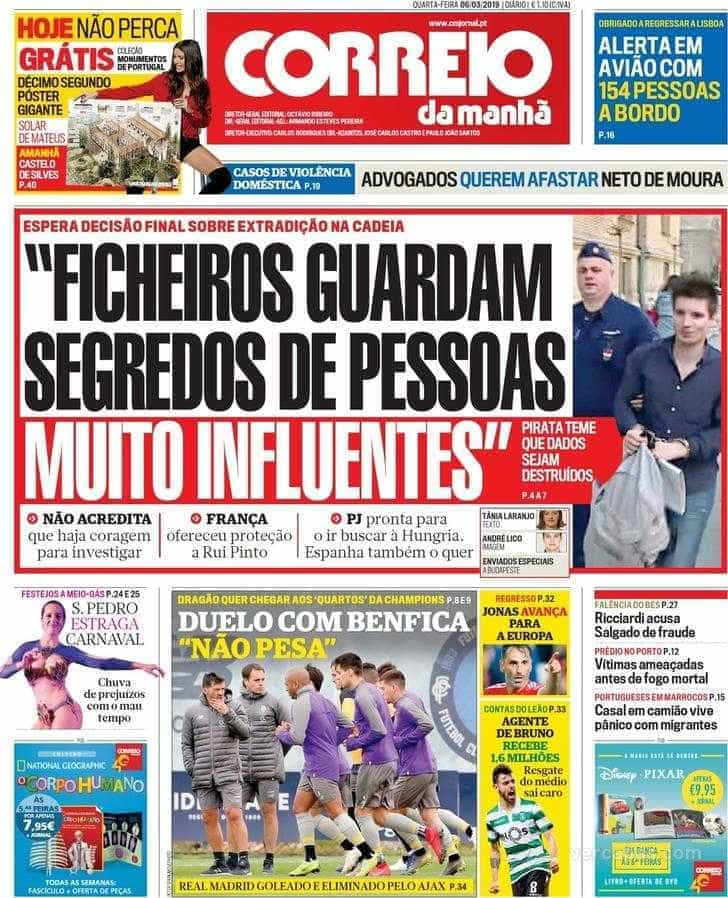 Hoje é notícia: Hacker terá proteção pessoal; Neto de Moura e a violência