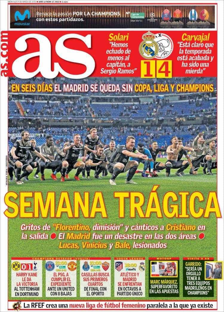 Lá fora: 'Terramoto' no Bernabéu abala a Europa