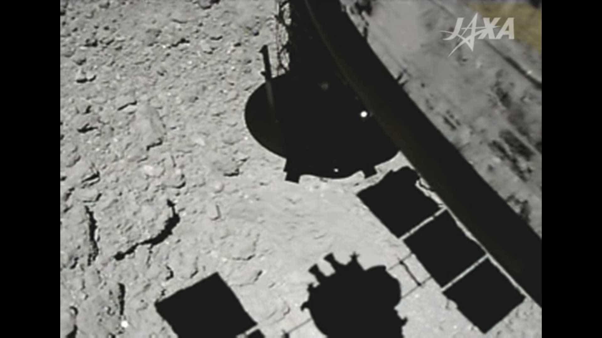 Vídeo mostra o momento que sonda pousou no asteroide Ryugu
