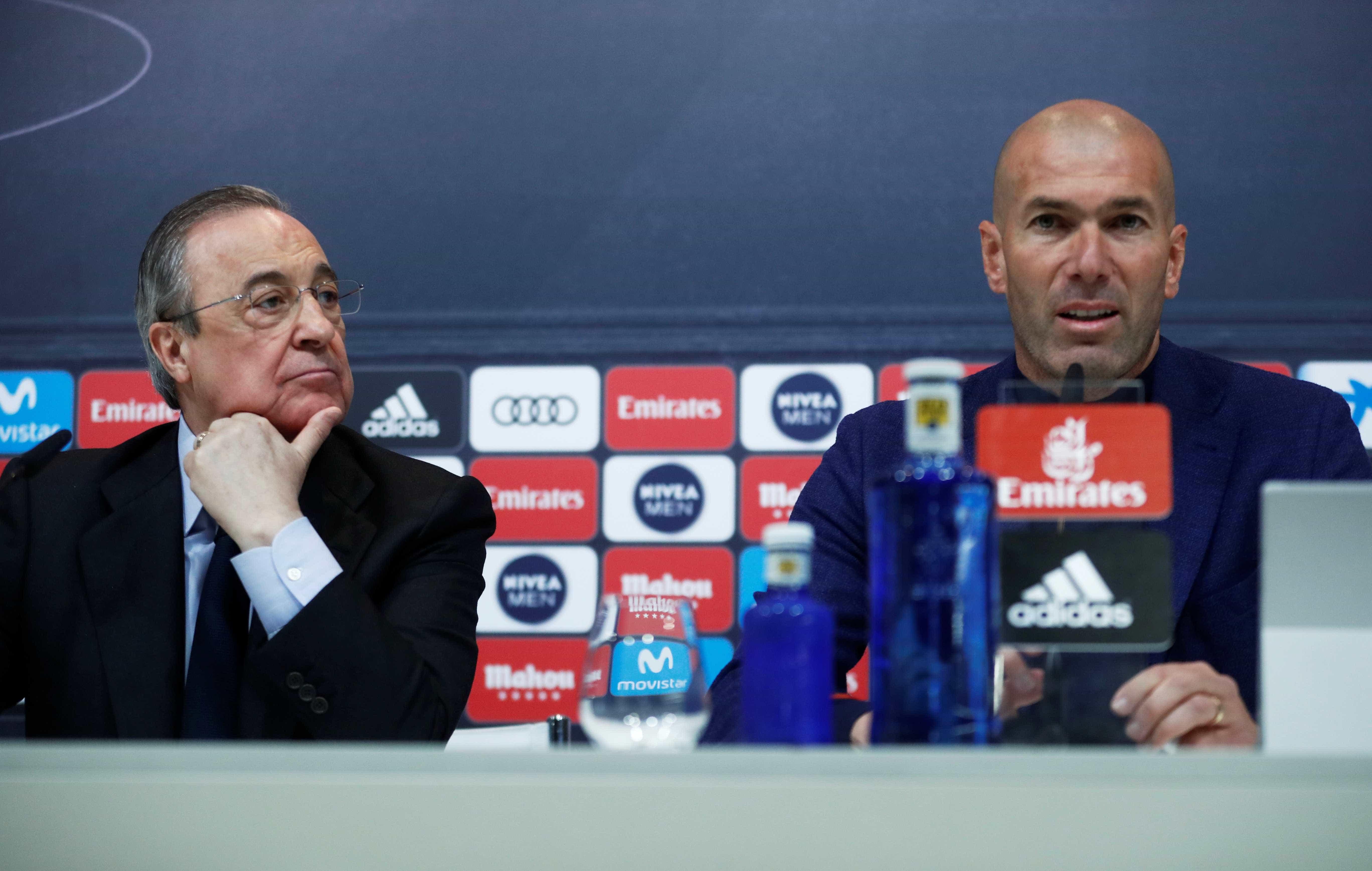 Espanhóis avançam que Florentino ligou a Zidane para voltar ao Real