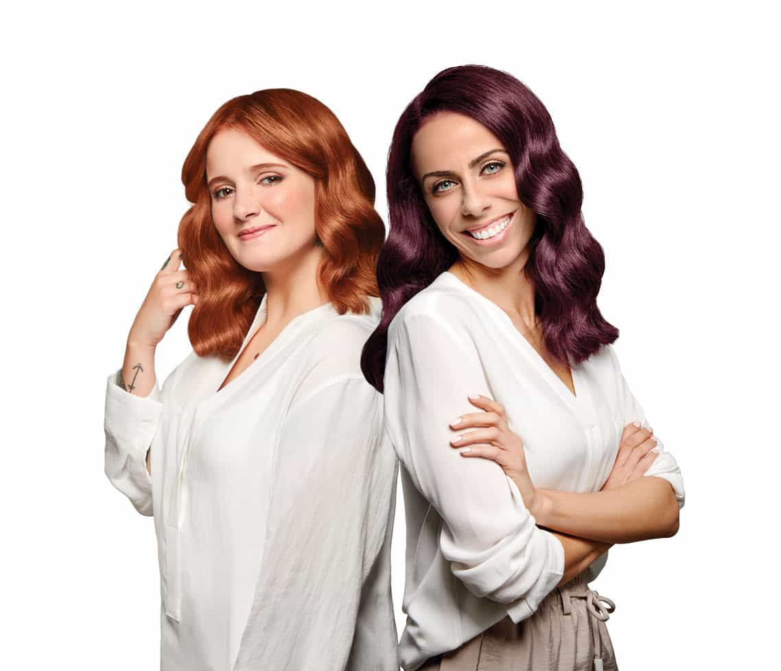 Filomena Cautela e Carolina Deslandes mudam cor de cabelo por campanha