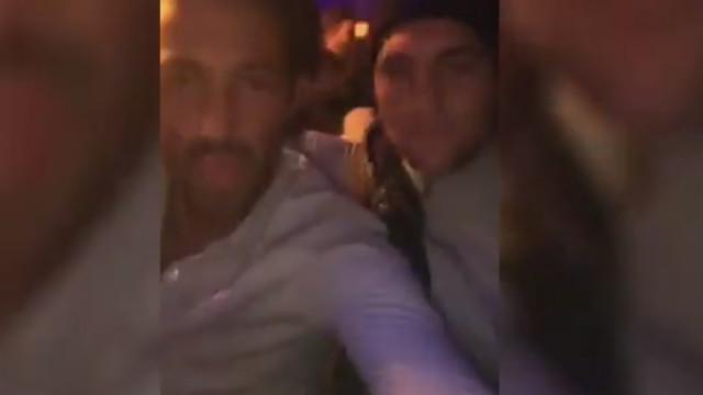Rabiot em clima de festa, em discoteca, após eliminação do PSG