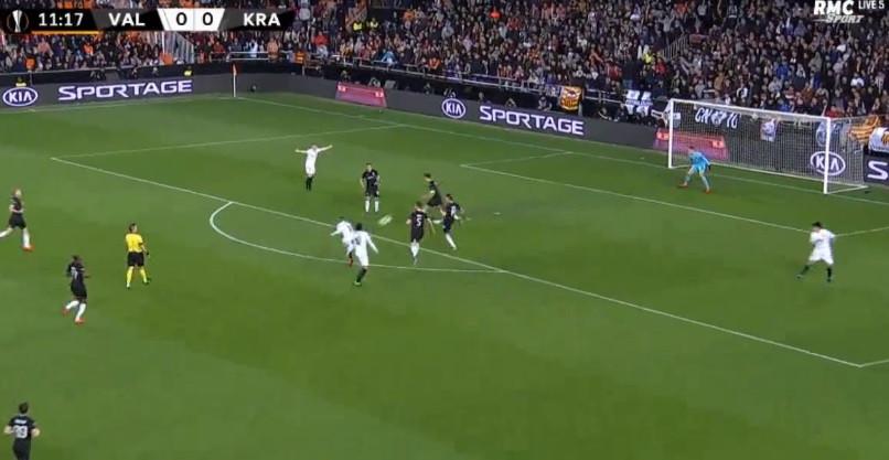 Rodrigo (lembra-se dele?) marca golaço no Valencia-Krasnodar
