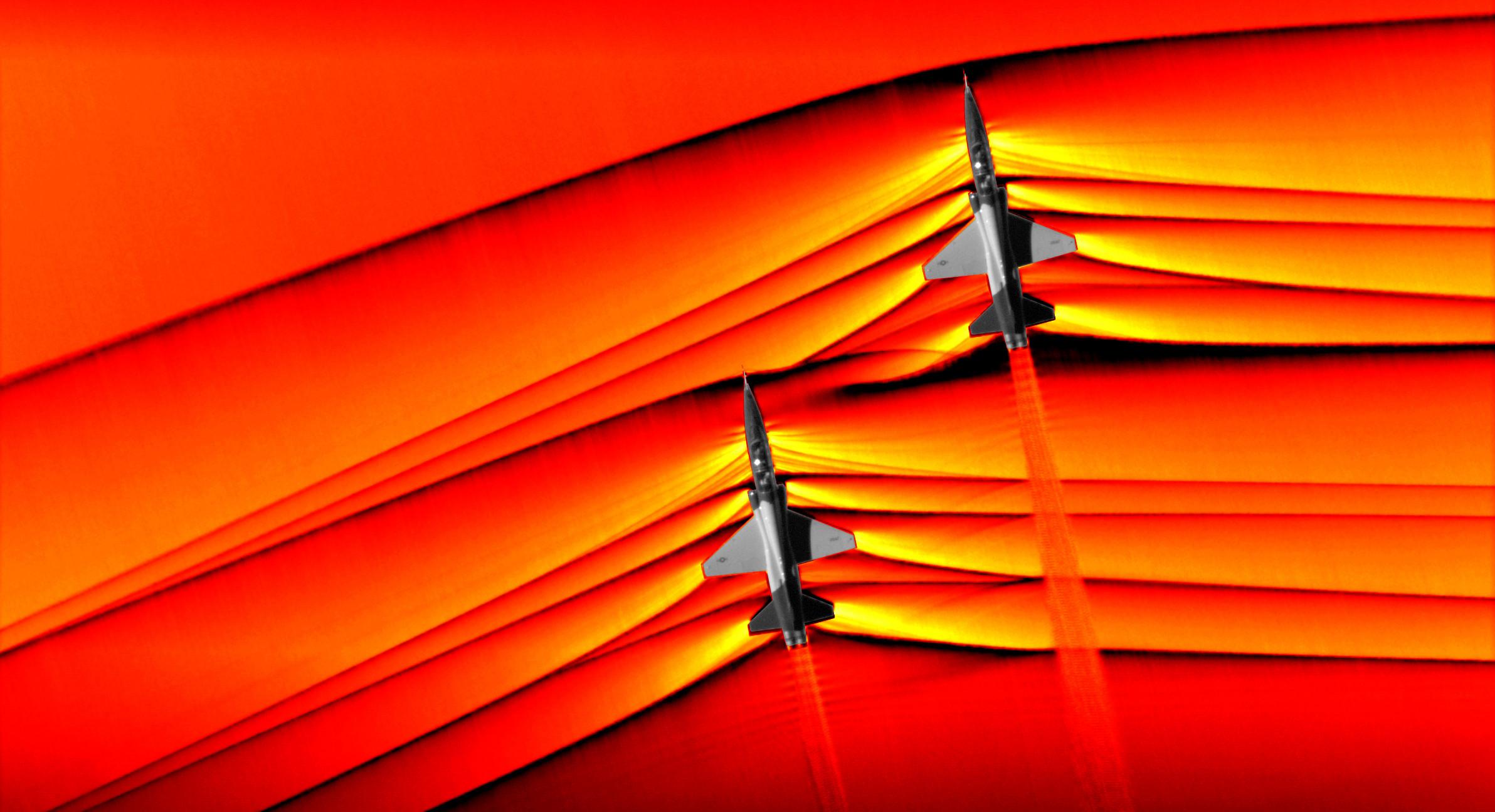 NASA captou pela primeira vez ondas de choque de voo supersónico