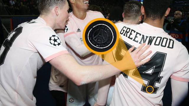 Jogador do United entrou em Paris com dorsal do... Paris Saint-Germain