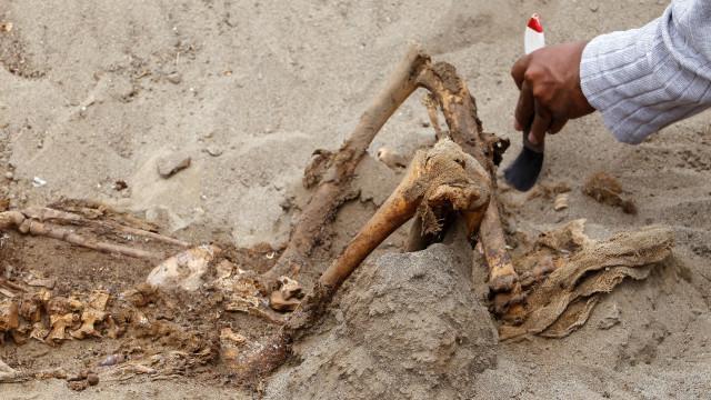 Maior sacrifício de crianças conhecido foi um ritual para parar a chuva
