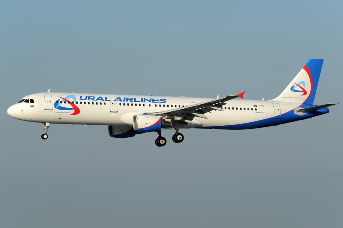 Avião da Ural Airlines aterra de emergência após ameaça de bomba a bordo