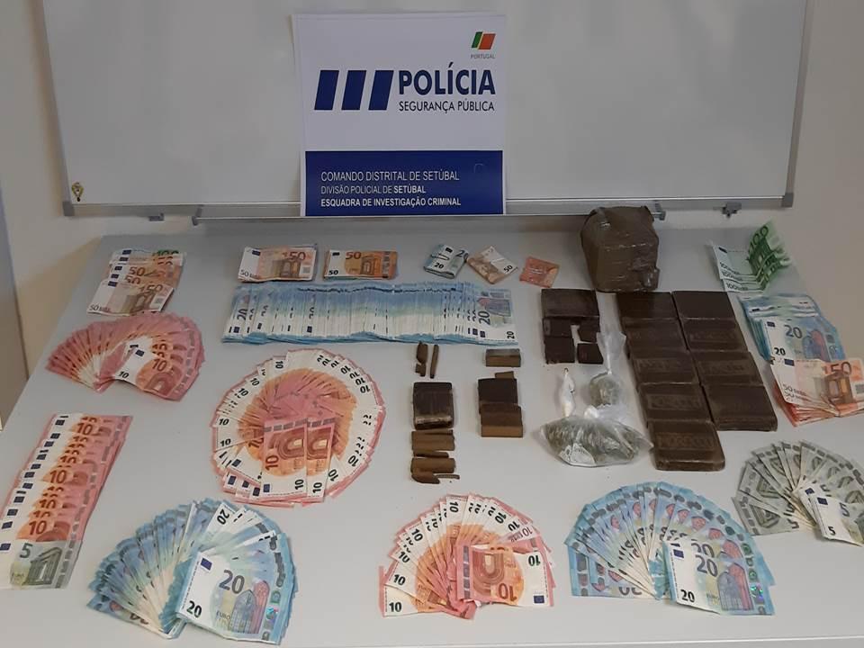 PSP apanha seis homens com quase três mil doses de droga em Setúbal