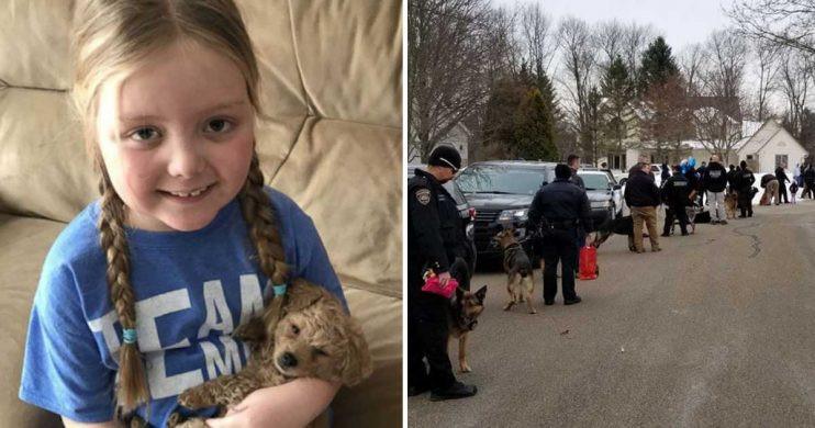 Depois de cartas, menina com cancro raro é visitada por 40 cães polícia