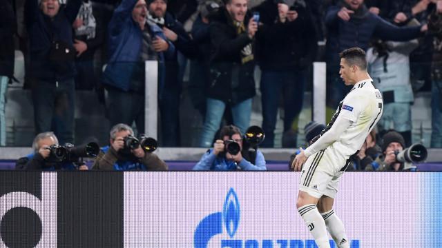 A vingança de Ronaldo: CR7 imitou festejo de Simeone