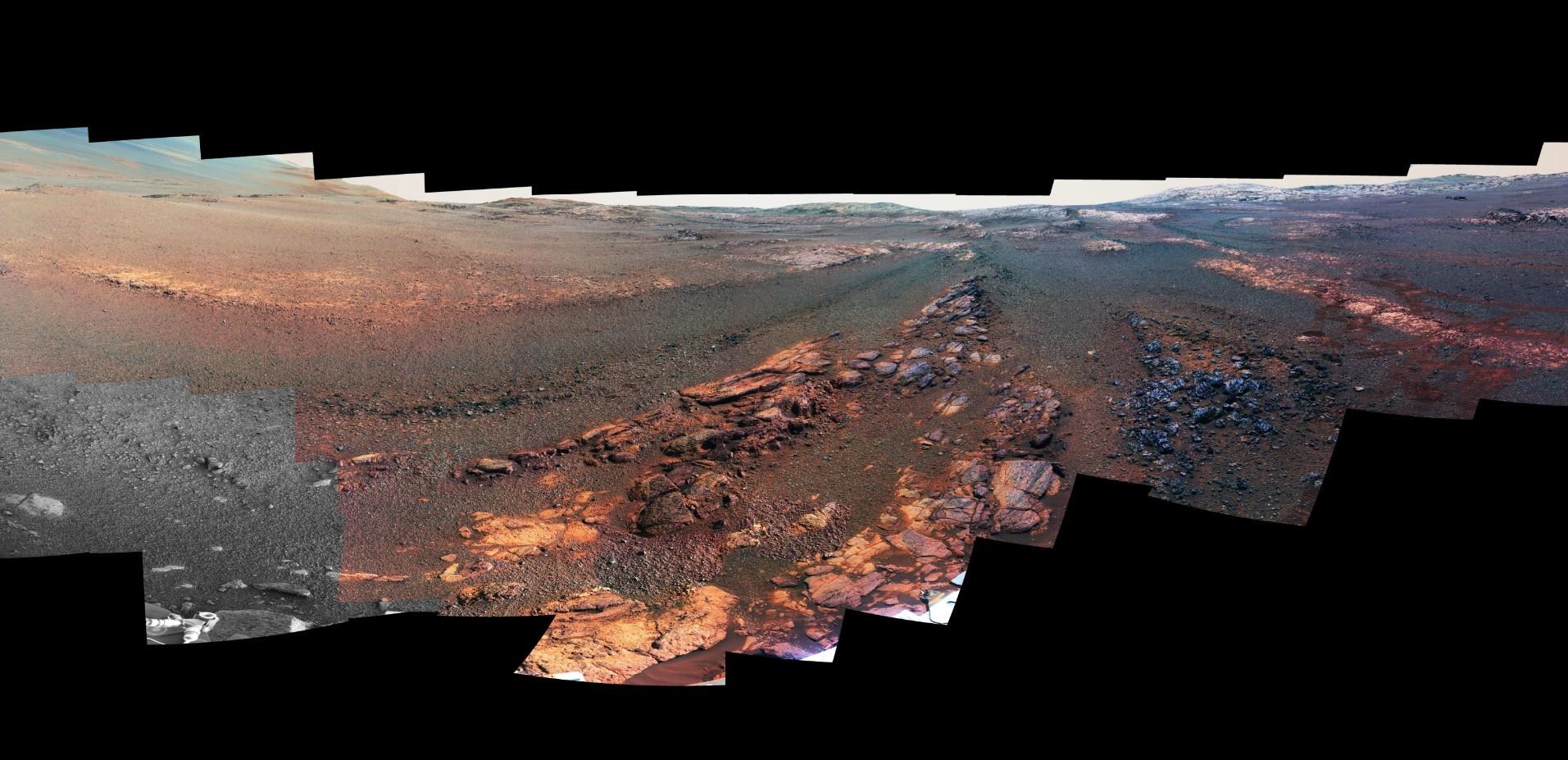 NASA revela a última visão de Marte do Opportunity