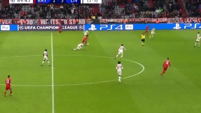 O fantástico 'nó' de Renato Sanches no Bayern-Liverpool