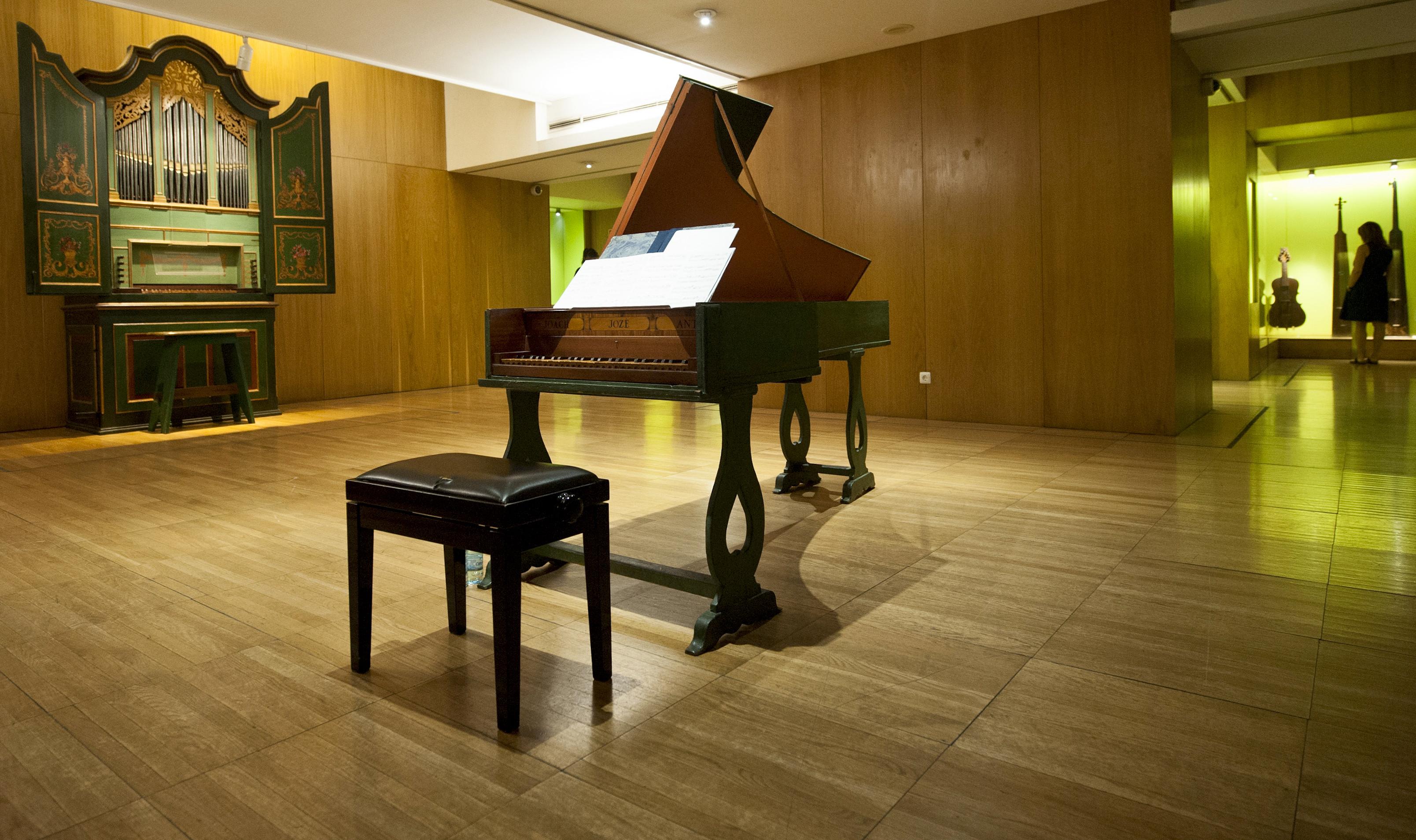 Alunos do Conservatório Nacionalatuam hojeno Museu da Música