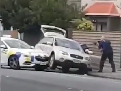 O momento da detenção de um dos responsáveis pelo ataque na Nova Zelândia