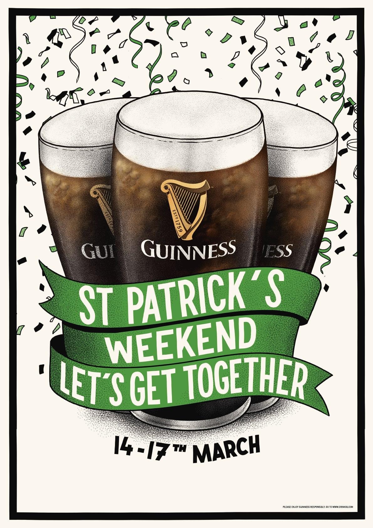 Guinness convida os amantes de cerveja a festejarem o Dia de St. Patrick