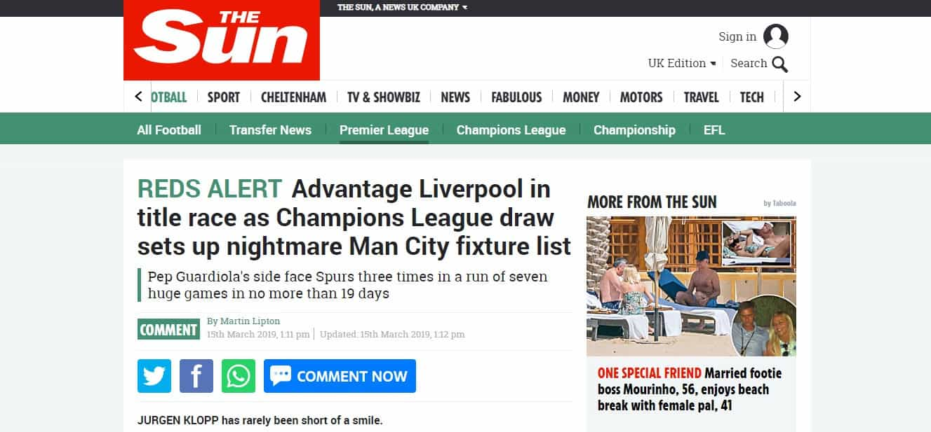 """""""Um sonho pintado de azul"""": Ingleses sorriem com a sorte do Liverpool"""