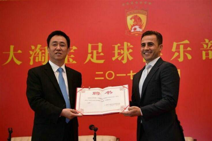 Cannavaro apresentado como novo selecionador da China