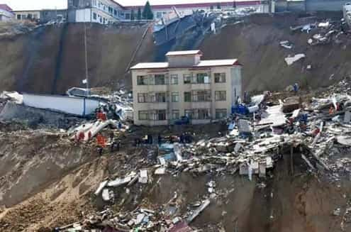 Sete pessoas morreram em deslizamento de terras no norte da China