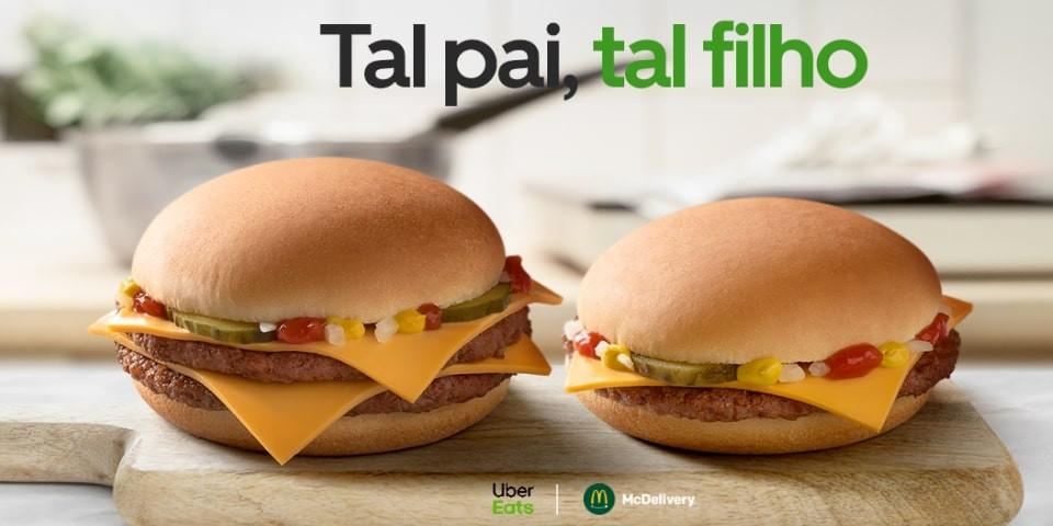 Uber Eats e McDonald's celebram Dia do Pai com oferta de Happy Meal