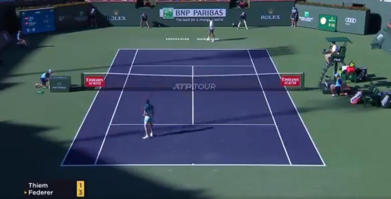 Que espetáculo: Federer e Thiem realizaram um dos melhores pontos do ano