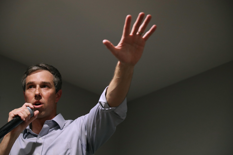 O'Rourke bate recorde de angariação de fundos no primeiro dia de campanha