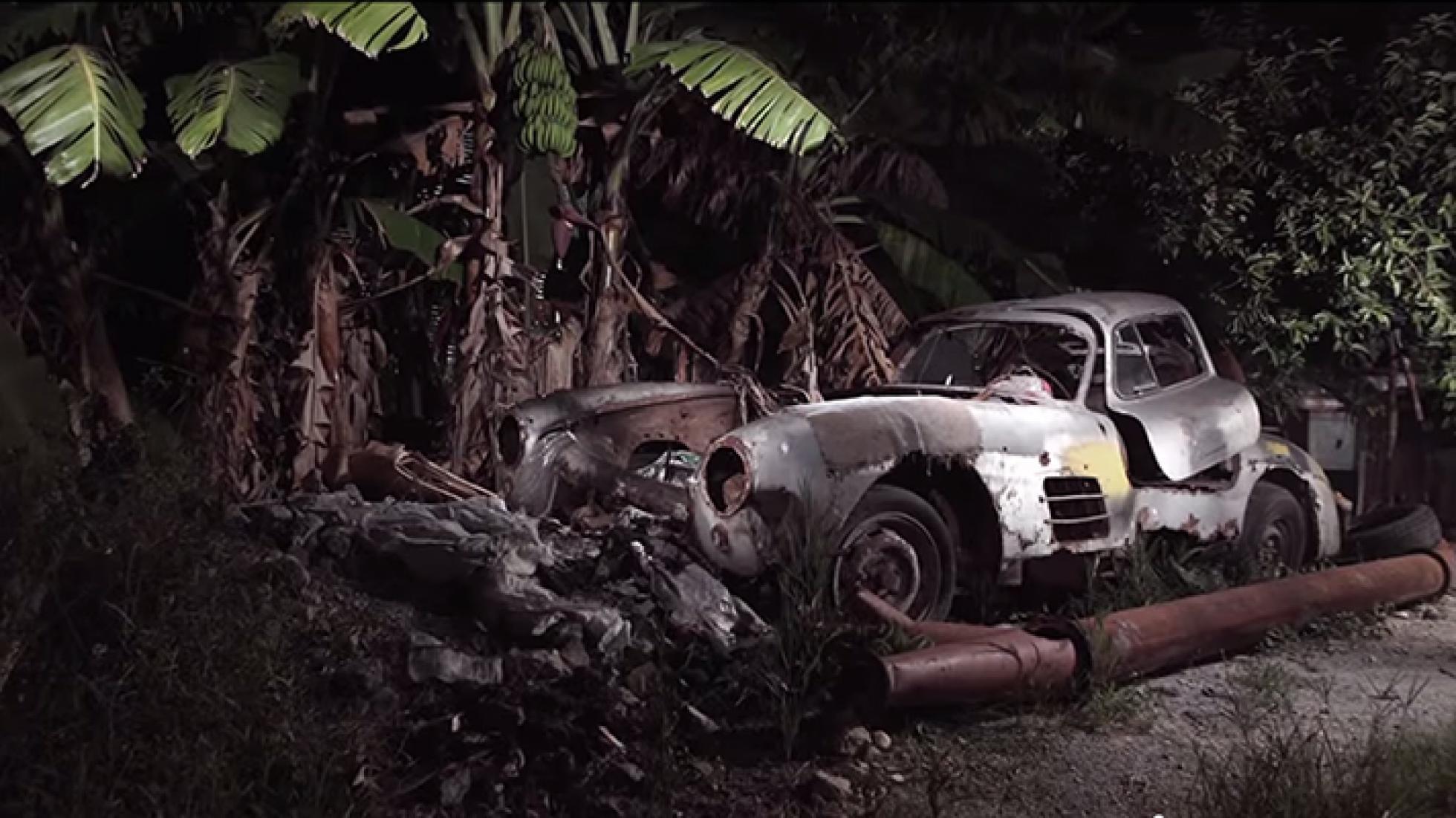 Mercedes-Benz 300SL Gullwing encontrado numa... bananeira em Cuba