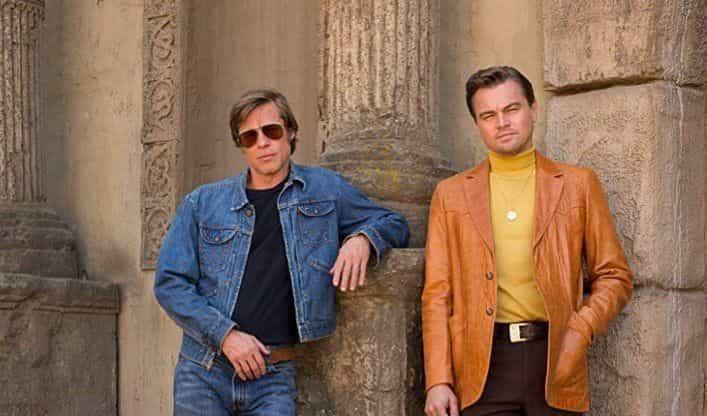 Revelado o cartaz do filme com Leonardo DiCaprio e Brad Pitt