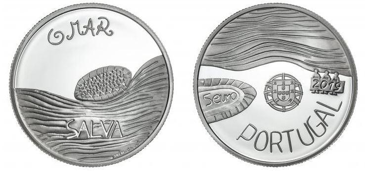 Há mais uma moeda de coleção: É sobre o mar e foi desenhada por uma aluna