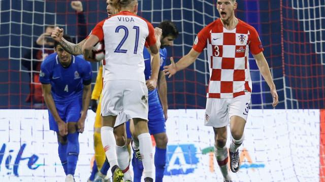 Vice-campeã do mundo Croácia obrigada a suar para bater Azerbaijão