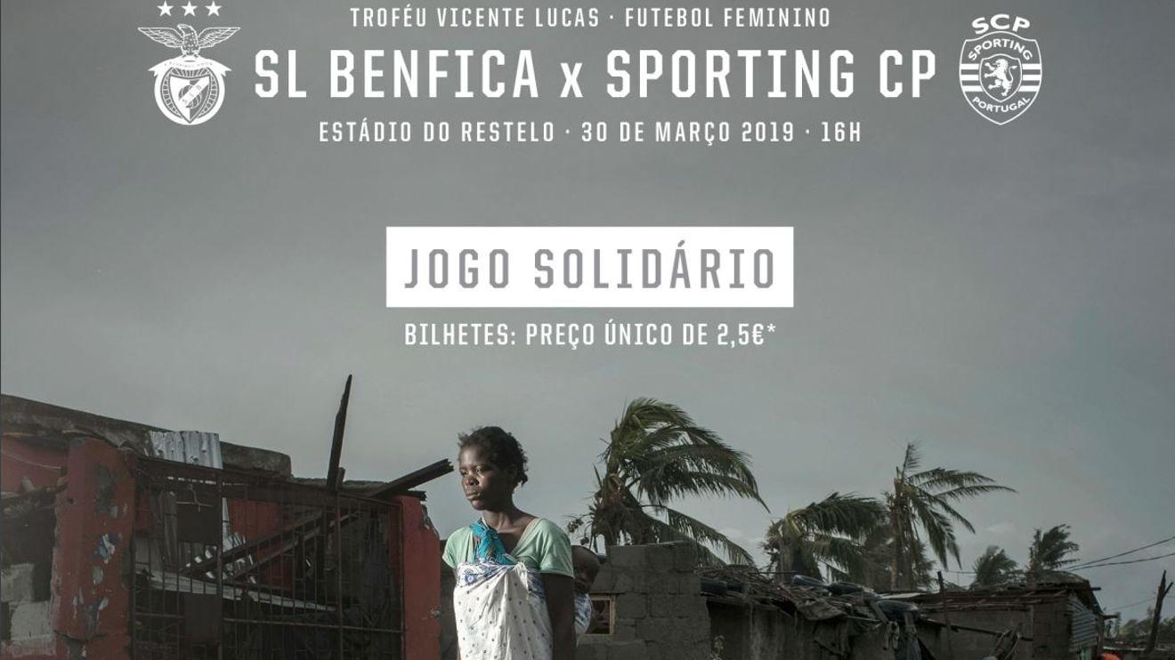 Equipas femininas de Sporting e Benfica defrontam-se em jogo solidário