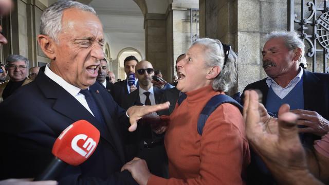 Marcelo recebido no Porto com protesto fervoroso de lesados do BES