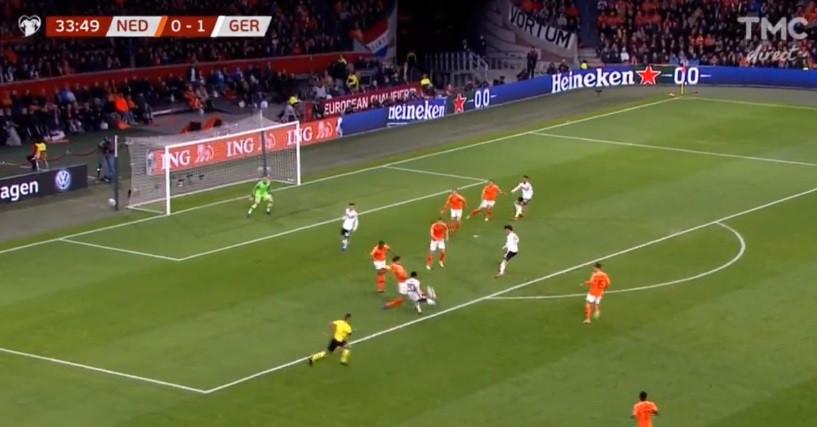 Holanda-Alemanha: Gnabry marca golo magistral para mais tarde recordar