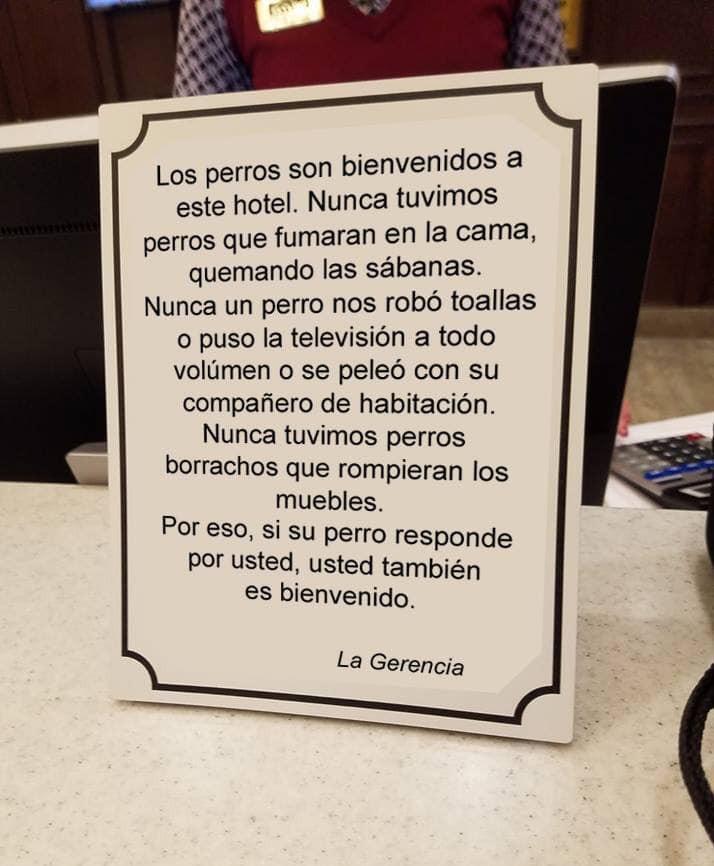 Cartaz amigo dos animais em hotéis torna-se viral. Até Casillas partilhou