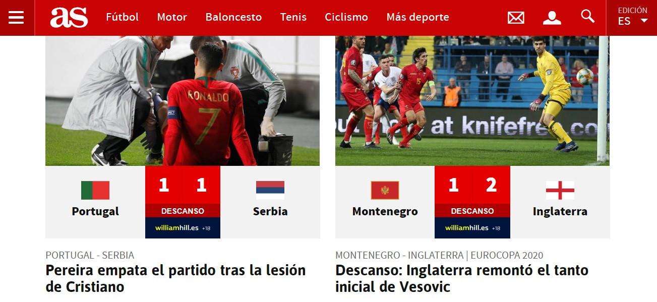 """""""Alarme CR7"""": Imprensa italiana em choque com a lesão do português"""