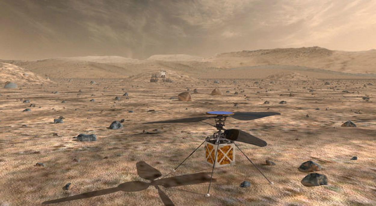 NASA quer voar um helicóptero em Marte