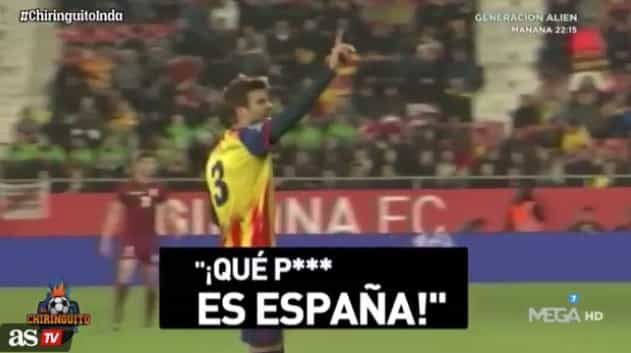 Piqué mandou calar insultos a Espanha em jogo da Catalunha