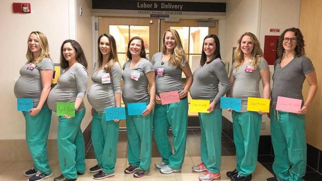 Nove enfermeiras de hospital americano estão grávidas ao mesmo tempo