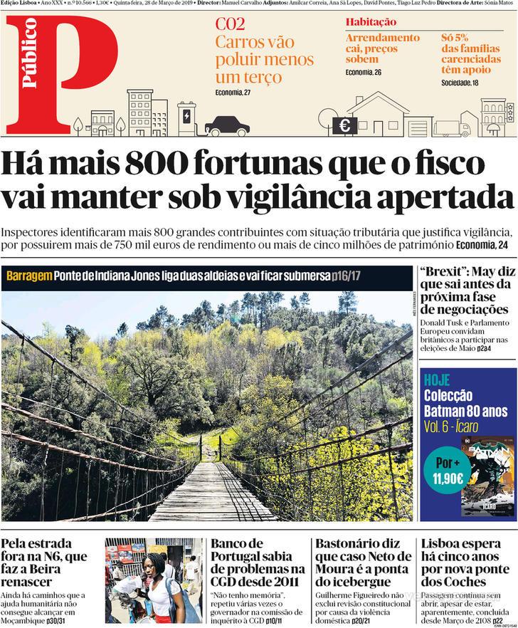 Hoje é notícia: Fisco vigia 800 fortunas; Marcaram férias antes do crime