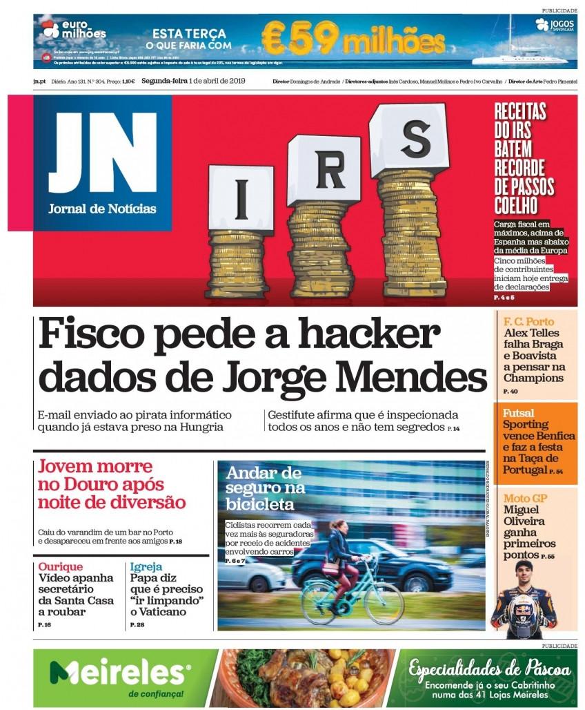 Hoje é notícia: Fisco quer dados de hacker sobre Mendes; Fungo assassino