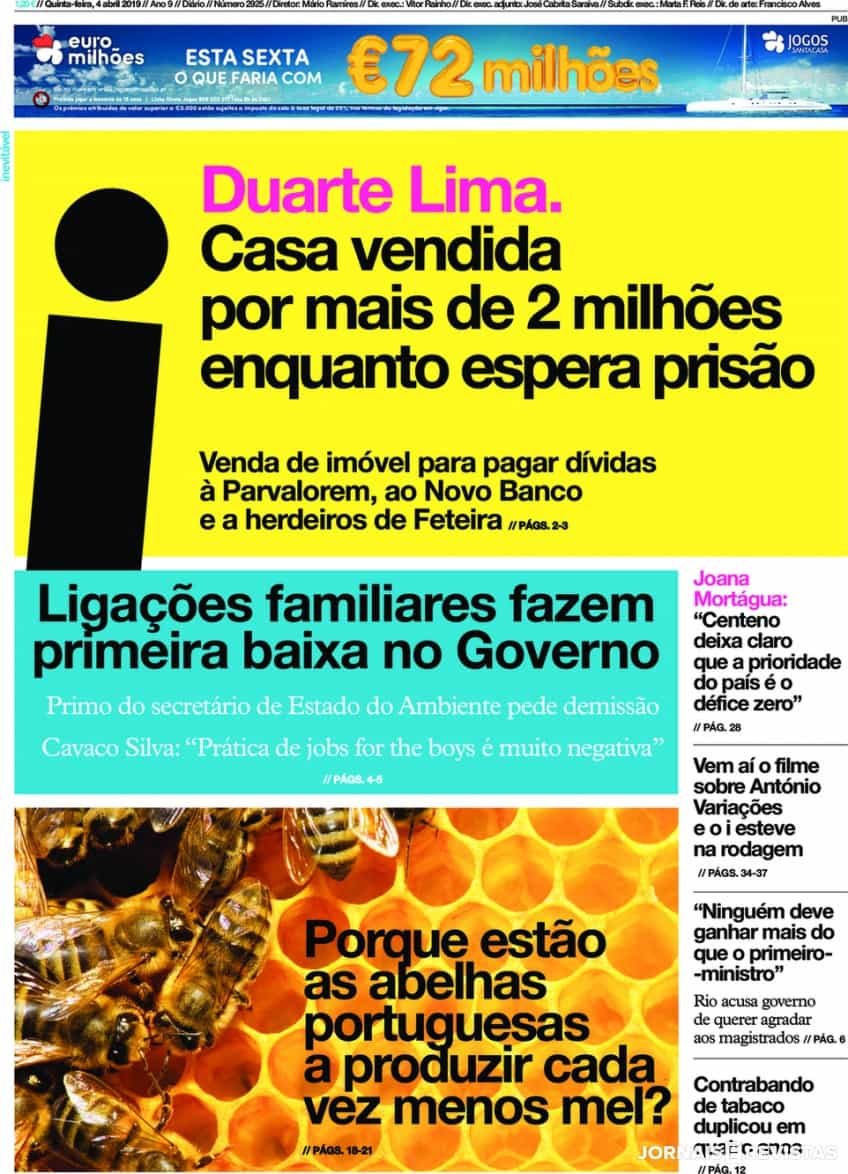 Hoje é notícia: Pede a filho para mentir à PJ; Duarte Lima vende casa