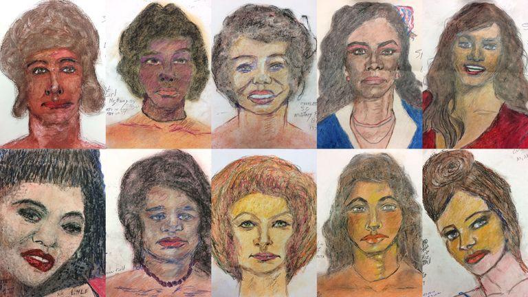 Assassino em série norte-americano desenha vítimas não identificadas