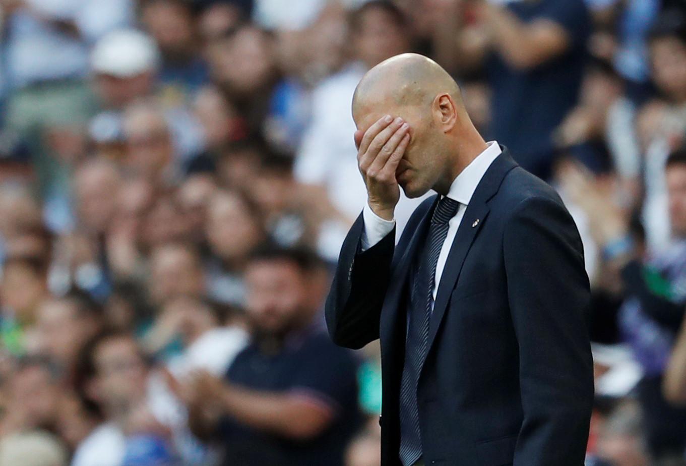 """Revelados os cinco jogadores que integram a """"lista negra"""" de Zidane"""