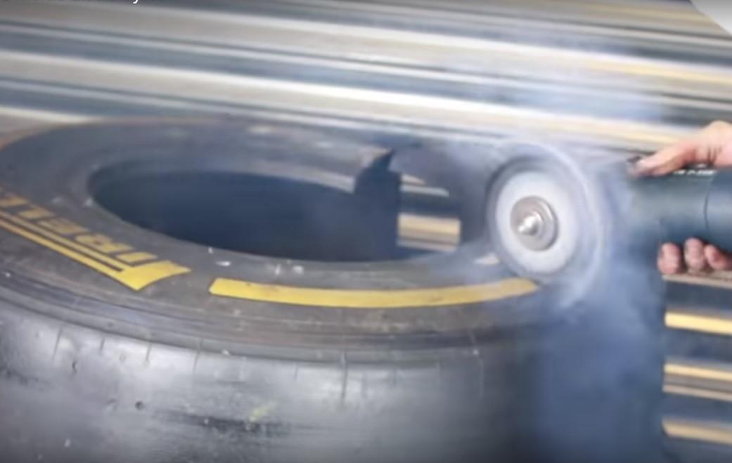 Já se perguntou o que tem o interior de um pneu de Fórmula 1?