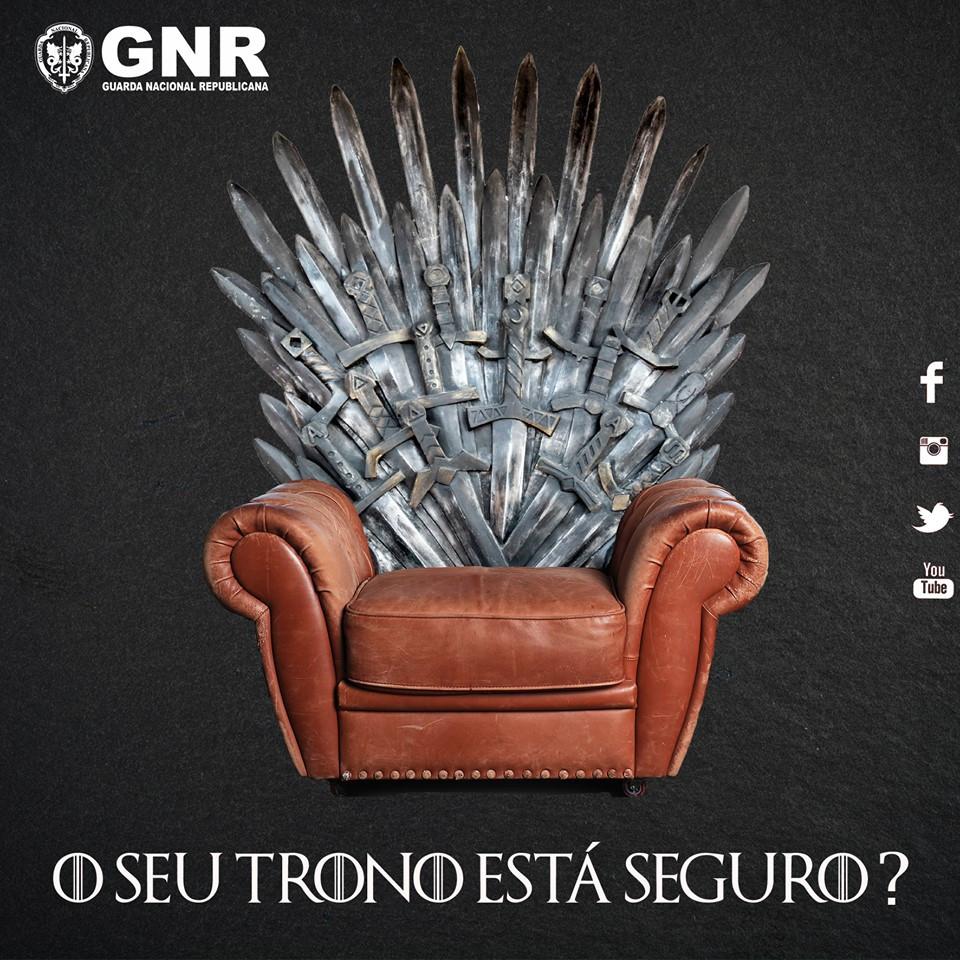 """GNR dá conselhos para manter """"intrusos longe do seu trono"""""""