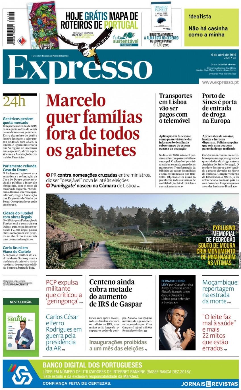 Hoje é notícia: PR contra famílias no Governo; MAI esconde documentos