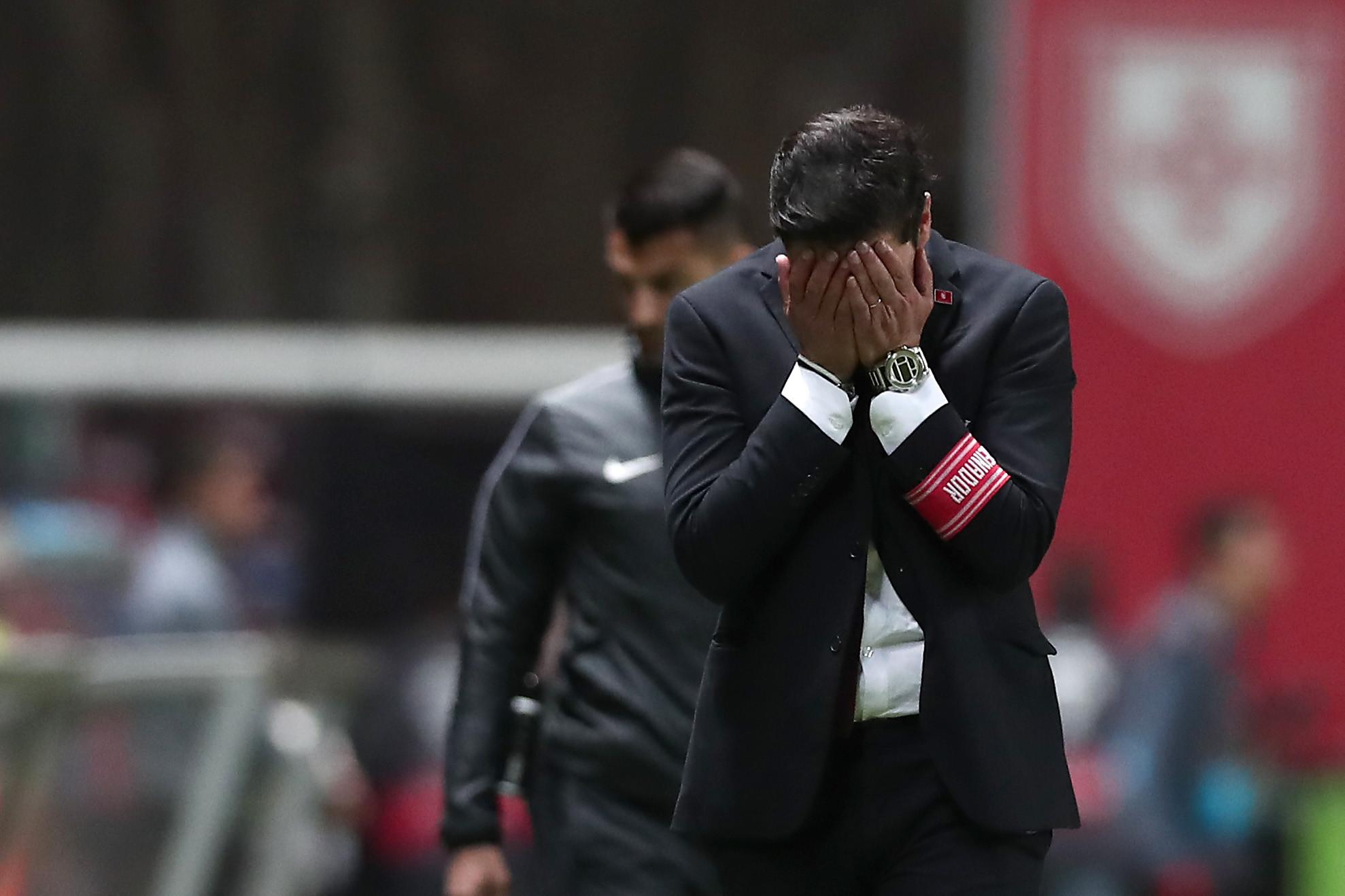 """No final do jogo dei os parabéns ao Ivo Vieira"""